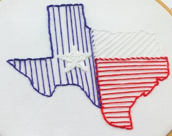 Texas Embroidery Design Texas Embroidery Pattern Hand Embroidery Design