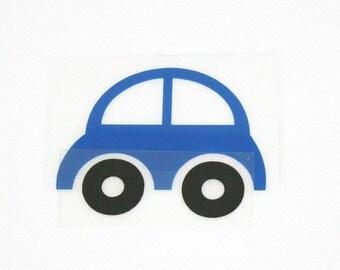 Pattern/transfer in flex fusible blue car