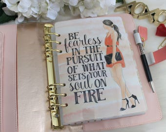 Be Fearless, A5 Planner Dashboard,