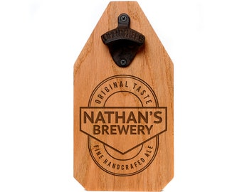 Personalized Brewery Sign - Custom Wood Sign - Rustic Beer Bottle Opener