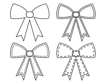 Bows Digital Stamps, Bows Scrapbook Digital Stamps, Printable Gift Bow, Bows Digi Scrap Stamps, Instant Download