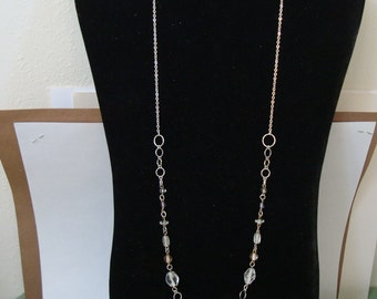 chain & link NECKLACE is 26 inch..  cond. is NEW, see description please