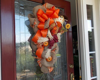 FALL WREATH-Fall Wreaths for Front Door-Fall Swags for Front Door-Fall Swag Wreath-Fall Swag-Thanksgiving Wreath-Fall Door Wreaths-Wreathes