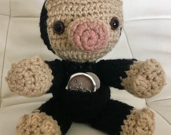 Niffler plush, crochet Niffler, crochet toy, baby toy, nursery decor