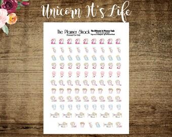 It's Life // Glitter Unicorns // Printable Planner Stickers // Planner Stickers // Glitter // Kawaii Unicorn // Birthday // Work // Coffee