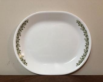 Corelle Spring Blossom Green Serving Platter