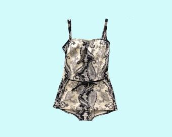 1960s Paisley Swimsuit size M