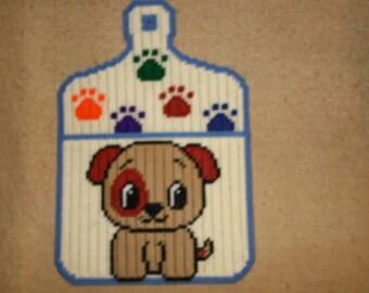 Puppy cutting board note holder