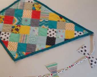 Patchwork Quilted Kite Wall Hanging