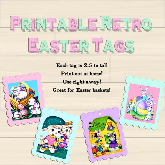 Easter gift tags instant download printable tags vintage digital easter gift tags instant download printable tags vintage digital download easter bunny chicks spring tags jpg easter basket gift tags from josiemart on negle Choice Image