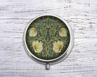 William Morris, Pill Box Case Trinket Box Vitamin Holder Medicine Box Mint Tin Gifts For Her