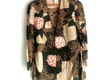 Vintage, Skirt and Blouse Set