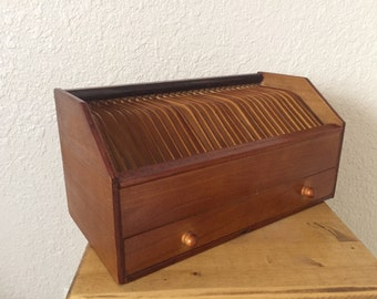 Vintage Letter Holder with Drawer/Mail Storage/Mail Organizer/Wooden Mail Holder/Rustic Letter Holder/Bill Sorter/31 Day Valet/Gift