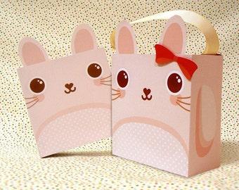 Cute Bunny Giftbox Printable PDF