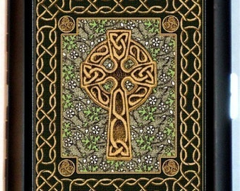 Celtic Cross Cigarette Case Christianity Irish Paganism Medieval Pagan Metaphysical Religious ID Business Card Credit Card Holder Wallet