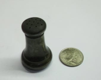 Vintage Oxidized Sterling SIlver Salt Shaker