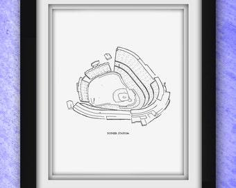 Los Angeles Dodger Stadium Print