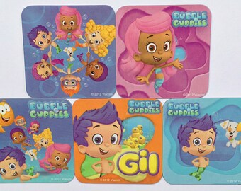 Bubble Guppies Refrigerator Magnets, Party Favors, 5 Nick Jr. Nickelodeon Fridge Magnet Set, Molly Gil Goby Deema Oona Nonny Bubble Puppy
