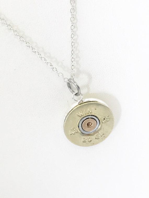 Shotgun Shell Necklace, 20 Gauge Pendant, Shotgun Shell Pendant, Shotgun Shell Jewelry, Shooting Sports Jewelry, Shooting Jewelry Gift