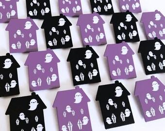 Ghost Haunted House Enamel Pin
