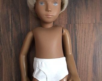 White Knit Boy Brief Underwear for Sasha Gregor Doll