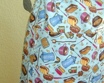 Reversible adjustable full long bib apron