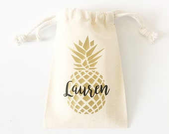 Pineapple Bachelorette party decorations Pineapple party favor bags