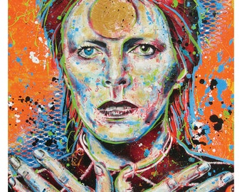 David Bowie - Ziggy Stardust - 12 x 18 High Quality Pop Art Print