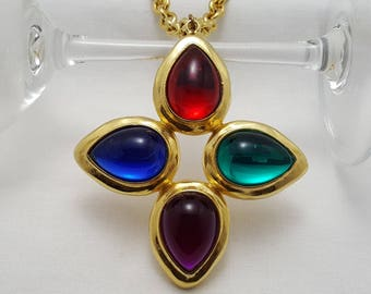 Colorful Statement Pendant Necklace