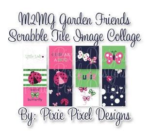 INSTANT DOWNLOAD - M2MG Garden Friends Scrabble Tile Collage Sheet