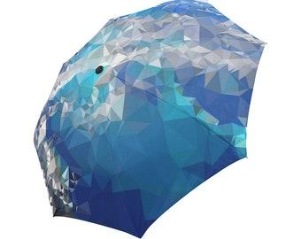 Blue Umbrella Teal Umbrella Floral Designed Umbrella Geometric Umbrella Rainbow Umbrella Photo Umbrella Automatic Foldable Umbrella