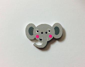 wooden elephant 3 cm * 2 cm, 6 buttons
