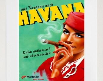 Havana Cuba Travel Poster Home Decor Wall Art Print (ZT501)