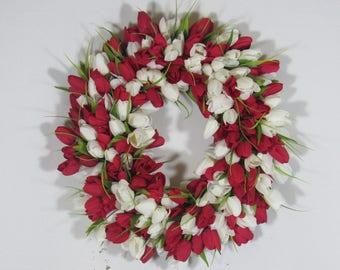 Spring Tulip Wreath, Spring Wreath, Tulip Wreath, Grapevine Wreath, Everyday Wreath, Summer Wreath, Cottage Wreath, Floral Spring Wreaths