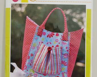 Melly and Me STRAWBERRY SWING new craft tote bag pattern #MM145