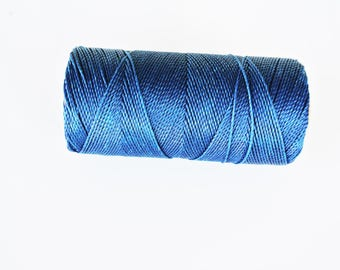 6 m of thread (Linhasita) nabbed macrame Navy Blue 1 mm