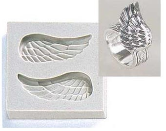 Silver Clay Jewelry Silicone Mold, Wing, PMC