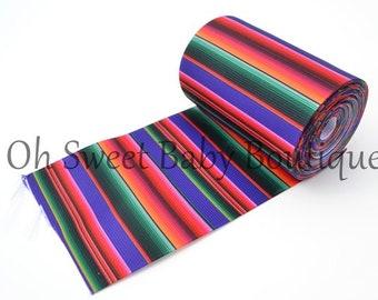 """Purple Serape Zarape Mexican Blanket 3"""" Ribbon 5 Yards Fiesta"""