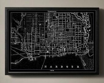 TORONTO Map Print Poster