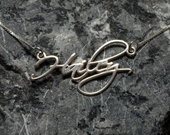 Customize Gift Ideas - Personalized Name Necklace - 925 Sterling Silver - Customize necklace for gift