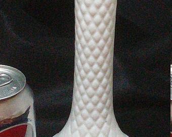 Beautiful, Vintage, Hoosier Pressed Glass, Milk Glass Vase #4092