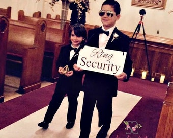 Ring security signs Etsy