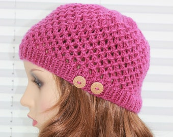 Instant download knitted ladies  beanie knitting pattern, Beanie, Cap UK & USA Terms KP12