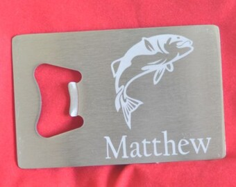 Fishing Stainless Credit Card Bottle Opener for Groom, Usher, Groomsman Gifts and Wedding Favors Worldwide by Jackglass on Etsy