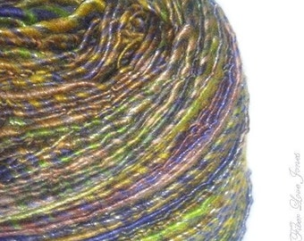 Moonshine Heather Art Yarn - 175 yards - Single-Ply - Handspun - Knitting - Crochet - Weaving - Felting - Fiber Arts - Textile Arts, etc.