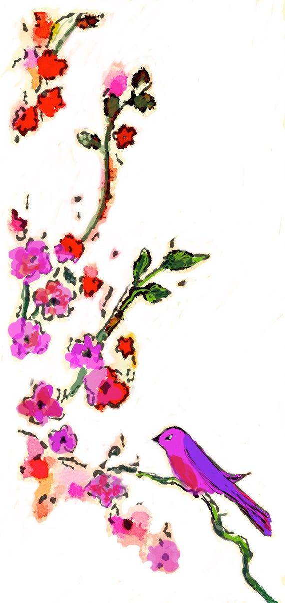 Tomoe River Insert - Bird On A Vine - Travelers Notebook Insert - Retiring Soon