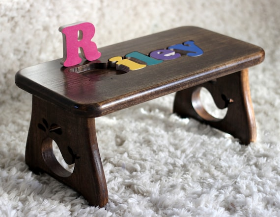 Items Similar To Personalized Children S Puzzle Stool