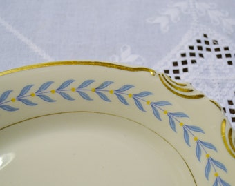 Vintage Syracuse China Old Cream Sherwood Oval Large Platter White Blue USA PanchosPorch