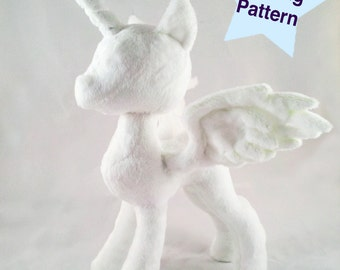 Pony Princess Alicorn Plushie PDF Sewing Pattern | Instant Download Unicorn Pegasus Plush Pattern