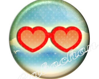 1 cabochon 25mm domed glass cabochon holiday image shown